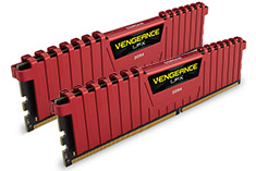 Corsair Vengeance LPX CMK8GX4M2A2400C16R 8GB (2x4GB) DDR4 Red
