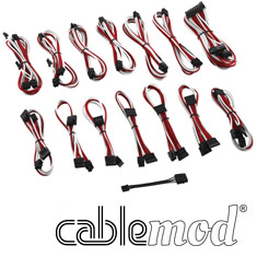 CableMod ModMesh C-Series RMi & RMx Cable Kit White/Red