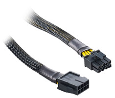CableMod Single Sleeve 8-Pin EPS Extension Black 45cm
