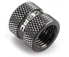 XSPC G1/4 18mm Female to Female Fitting V2 Black Chrome