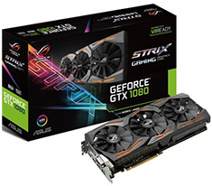 ASUS ROG GeForce GTX 1080 Strix Gaming 8GB