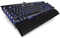 Corsair K70 LUX Mechanical Keyboard Blue LED Cherry Red
