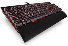 Corsair K70 LUX Mechanical Keyboard Red LED Cherry Red