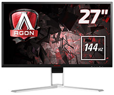 AOC AGON AG271QX QHD 144Hz FreeSync 27in Gaming Monitor