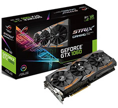 ASUS ROG GeForce GTX 1060 Strix Gaming 6GB