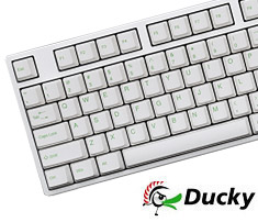Ducky One White PBT Keycaps Mech Keyboard Cherry Red