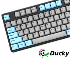 Ducky One Blue Grey PBT Keycaps Mech Keyboard Cherry Brown