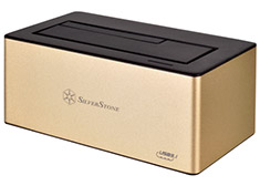 SilverStone TS11G USB 3.1 Type-C Hard Drive Dock Gold