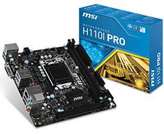 MSI H110I Pro Mini-ITX Motherboard