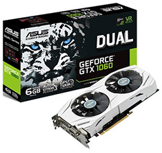 ASUS GeForce GTX 1060 Dual Fan 6GB