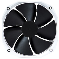Phanteks 140mm White Frame Black Blade PWM Premier Cooler Fan V2