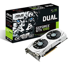 ASUS GeForce GTX 1060 Dual Fan OC 6GB