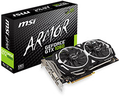 MSI GeForce GTX 1060 Armor OC 6GB