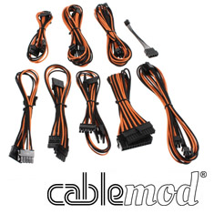 CableMod B-Series SP ModFlex Cable Kit Black/Orange