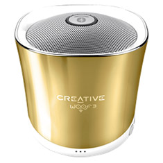 Creative Woof3 Micro-sized Bluetooth MP3/FLAC Speaker Gold