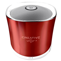 Creative Woof3 Micro-sized Bluetooth MP3/FLAC Speaker Rouge Red