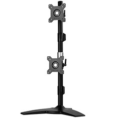 SilverStone ARM24BS Vertical Dual Monitor Mount