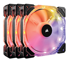 Corsair HD120 RGB LED 120mm PWM Fans 3 pack with Controller