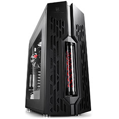 Deepcool Genome Mid Tower Case Black Red 2