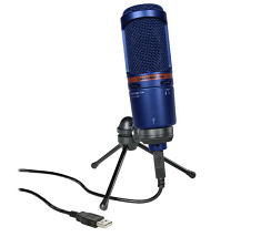 Audio-Technica AT2020USB+ USB Recording Mic Limited Edition Blue
