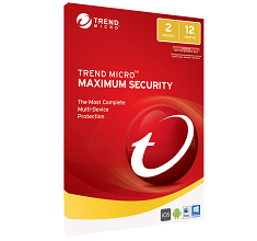 Trend Micro Maximum Security 2017 - 2 Devices 1 Year OEM