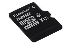 Kingston microSDHC 32GB Class 10 UHS-I Card
