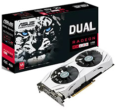 ASUS Radeon RX 480 Dual Fan Cooler 4GB