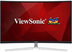 ViewSonic XG3202-C 32in Curved Fast Action 144Hz Gaming Monitor