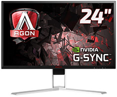 AOC AGON AG241QG 23.8in QHD 165Hz G-SYNC Gaming Monitor