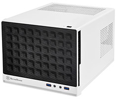 SilverStone Sugo SG13 Small Form Factor ITX Case Mesh White