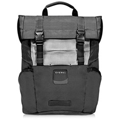 Everki 15.6in ContemPRO Roll Top Laptop Backpack Black