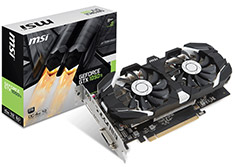MSI GeForce GTX 1050 Ti 4GT OC 4GB