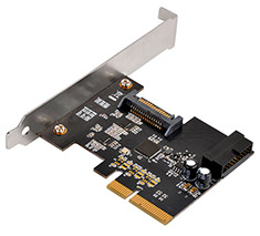 SilverStone ECU04-E PCI-E to USB 3.1 Expansion Card