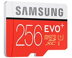 Samsung EVO Plus 256GB microSDXC with SD Adapter