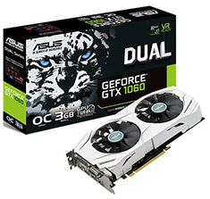 ASUS GeForce GTX 1060 Dual Fan OC 3GB