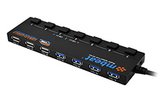 mbeat 7 Port USB 3.0 Powered Hub with Switches