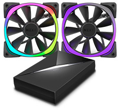 NZXT Aer RGB 140mm Fan Dual Pack with Hue+ Lighting Kit