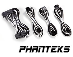 Phanteks Sleeved Cable Extension Kit Black/White