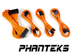 Phanteks Sleeved Cable Extension Kit Orange