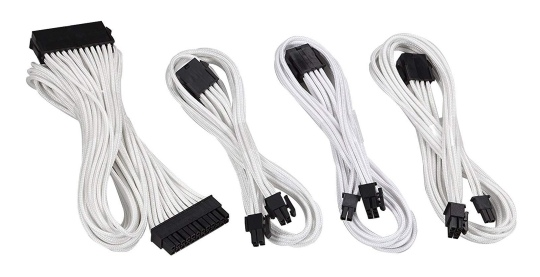 Phanteks Sleeved Cable Extension Kit White