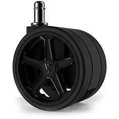 Vertagear Penta RS1 75mm Autobrake Caster Wheels Black