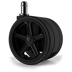 Vertagear Penta RS1 65mm Autobrake Caster Wheels Black