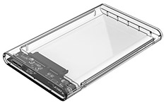 Orico Transparent 2.5in USB 3.0 Hard Drive Enclosure