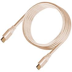 SilverStone CPH01G Premium Braided 4K HDMI Cable Gold 1.8m