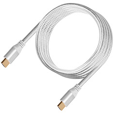 SilverStone CPH01S Premium Braided 4K HDMI Cable Silver 1.8m
