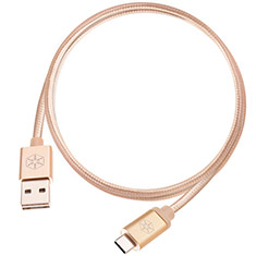 SilverStone CPU04G Reversible USB A to USB C Cable Gold 1m