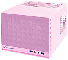 SilverStone Sugo Series SG13 Small Form Factor Chassis Mesh Pink