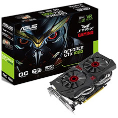 ASUS GeForce GTX 1060 DC2 Strix Gaming OC 6GB