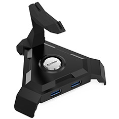 Orico LH4CS 4 Port USB 3.0 Charging Hub and Mouse Bungee Black