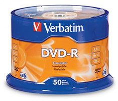 Verbatim DVD-R Spindle 4.7GB 16x 50 Pack